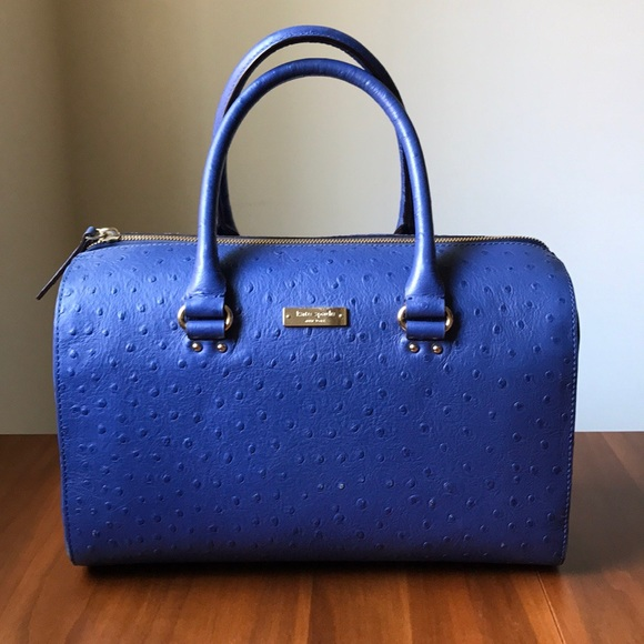 3753b1e1beca kate spade Handbags - Kate Spade blue ostrich elbow bag
